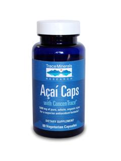 Aa Caps with ConcenTrace contains 1000 mg of pure, organic, whole fruit aa in a capsule form. Acai Caps contain important polyphenols and anthocyanins, which are nutrients that possess potent antioxidant properties to help to seek out and destroy roaming free radicals that can frustrate good health and drain your body of energy. gluten free, vegetarian..