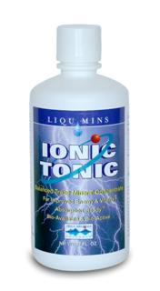 Ionic Tonic. Balanced Trace Mineral Concentrate (with ConcenTrace) For Improved Energy and Vitality, Absorpton-Ready Bio-Available and Bio-Active. 100% flavored with natural lemon, lime, and white grape juice concentrates. vegetarian, gluten free..