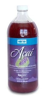 Acai from Trace minerals Research blends juices from pomegranate, blueberry, red sour 