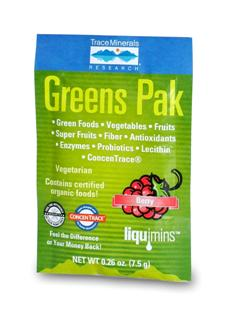 Greens Pak is easy to use and a great-tasting phyto-nutrient powder that is loaded with energy-packed whole foods, super fruits, antioxidant foods, vegetables, enzymes, probiotics, fiber and plant extracts to help energize your body. These Super-Foods are the foods we should eat daily for optimum health and wellness..