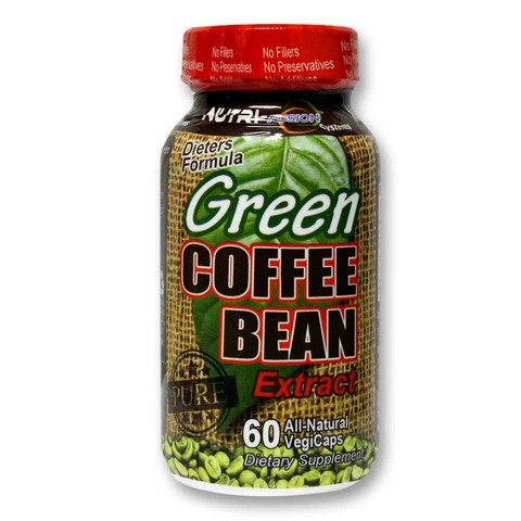 800mg of Pure Unroasted Green Coffee Bean Extract in a Vegetarian