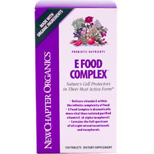 E Food Complex provides easily digested and highly active probiotic E as well as 9 free-radical scavenging herbs cultured for maximum effectiveness. Welcome to the living world of New Chapters Probiotic Nutrientsa vital organic choice for the fullest potential of life..