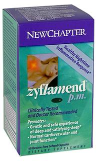 New Chapter Zyflamend PM inhibits the COX-2 enzyme and reduces inflammation, while safely promoting and satisfying sleep..