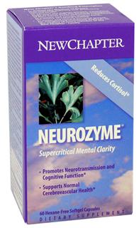 New Chapter's Supercritical Neurozyme brings together a multifaceted and patent-pending formulation of these scientifically and traditionally confirmed herbal supports, which provides a safe and easy method to promote the long-term clarity of our mental functioning..