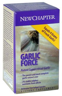 New Chapter's Garlicforce is the world's first and only dual extract of supercritical and ethanolic garlic..
