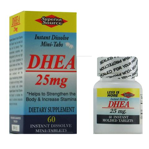 Pure pharmaceutical grade DHEA 25mg is beneficial to preserving youth and slowing the aging process..