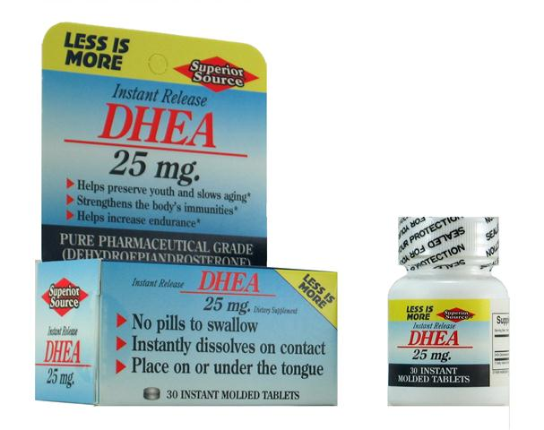 DHEA levels naturally decline with age making Superior Source DHEA 25mg an excellent choice for supplementing this important hormone..