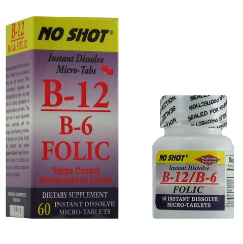 Vitamin B12, Vitamin B6 & Folic Acid work synergistically to achieve a lower Homocysteine level and reduce the risk of developing heart disease..