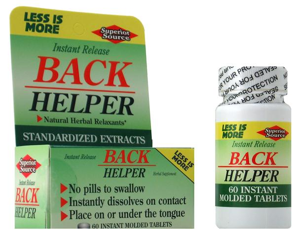 Standardized Herbal Extracts provide fast relief for muscle strain. .