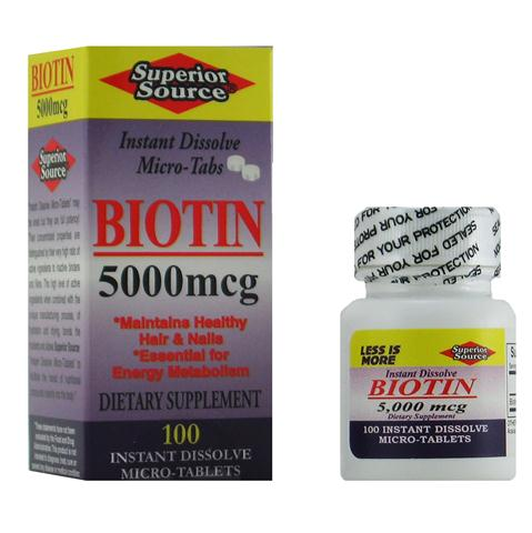 Biotin plays an important role in development of healthy hair and nails, and is beneficial in support of the production of amino acids and the metabolism of fats..