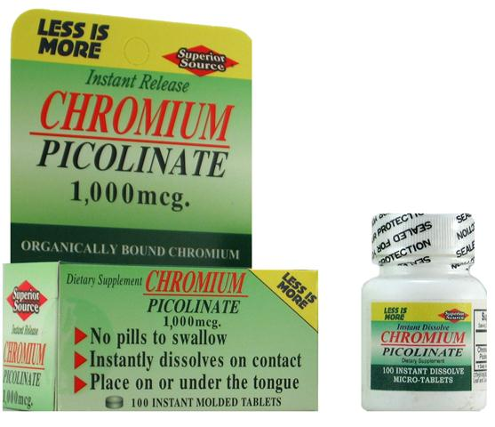 Superior Source provides Organically Bound Chromium in an Instant Dissolve Micro Tablet that delivers the nutrient fast and effectively.Chromium is required in trace amounts for sugar metabolism..