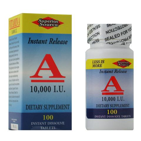 Superior Source Instant Release Vitamin A is essential in maintaining eye health and also helps maintain healthy skin, teeth, eyes and support for your immune system..