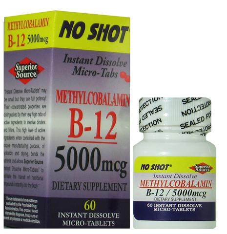 HIgher doses of Vitamin B12 are often recommended for people taking prescription medications that block normal vitamin B12 absorption..