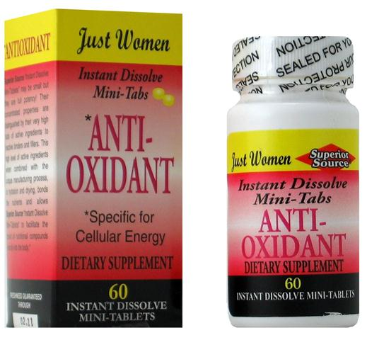 Just Women Antioxidant Formula for Cellular Energy. A potent blend of vitamin B Complex, vitamin D3, Biotin and natural herbs in an instant dissolve mini tablet. .
