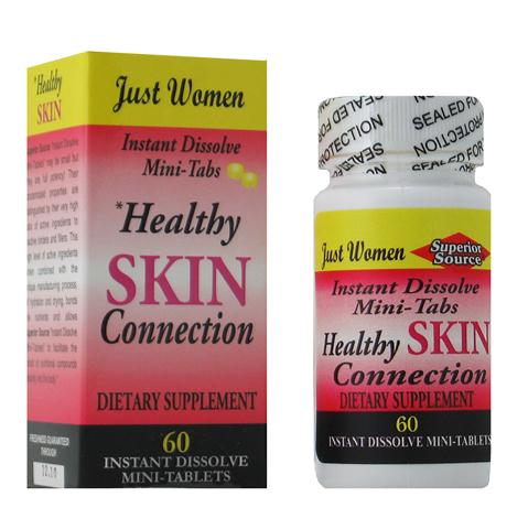 Superior Source instant dissolve mini tablets act quickly to enter the bloodstream and deliver the nutrients you need. Healthy Skin Connection contains vitamins that promote clear young looking skin..