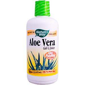 Nature's Way Aloe Vera Gel and Juice is the only aloe very certified for both purity and polysaccharide content..