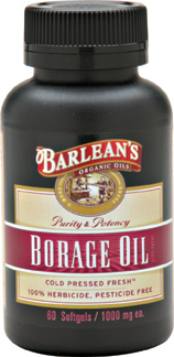 Barleans  Worlds Finest Source of Borage Oil. Cold Pressed Fresh. Natures most abundant source of Gamma-Linolenic Acid (GLA). Pure & Pristine..
