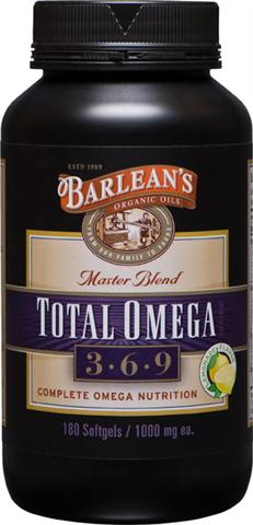 Total Omega master blend combines of the 'best of the Barlean's'  our renowned 100% Organic Flaxseed oil, Fresh Catch Fish Oil, and Pure Borage Seed oil  for a truly superior and complete omega 3, 6, 9 nutrition source..