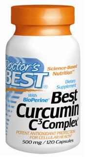 Best Curcumin with Bioperine (500 mg) (120 capsules).
