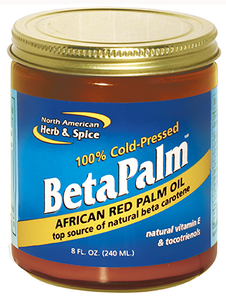 BetaPalm Red Palm Oil is a leading food source of healthy natural beta carotene, tocotrienols and vitamin E..