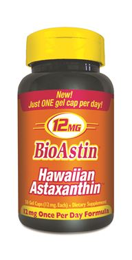 Many health professionals regard Hawaiian Astaxanthin as an important component to a successful daily health program. 12 mg per day is the recommended daily dose for active people who participate in hard physical work or excercise..