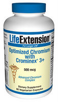Optimized Chromium With Cromin Ex3+ (500mcg  60vcaps)  Chromium is an essential trace mineral that has been shown to promote cardiovascular health, sensitize insulin response and act as an anti-oxidant..