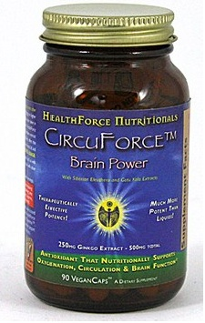 Circuforce Brain Power (formerly Ginkgo Biloba III+) is an excellent supplement to take if you are seeking to improve circulation, strengthen blood vessels, and give your brain and memory a boost..