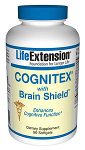 Cognitex with Brain Shield by Life Extension is an advanced formula providing the brain boosting nutrients demonstrated by science to enhance cognitive and preserve memory functions of the brain. .