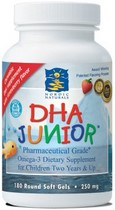 DHA Junior by Nordic Naturals is the perfect Omega-3 dietary supplement for children three years of age and up..