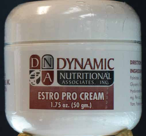 DNA Nutritionals employs the finest processes and ingredients to produce a superior product. Estro Pro Cream provides support for symptoms of menopause, vaginal dryness, hot flashes, loss of libido and healing after hysterectomies..