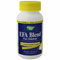 Nature's Way EFA Blend for Children & Kids formerly known at Attention Focus, supplies researched levels of DHA & GLA to support eye and brain function..