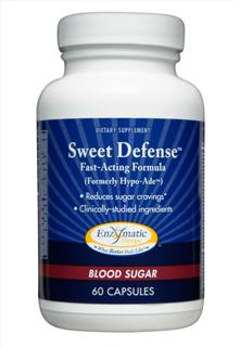 Nutrients that must be present in the diet for blood glucose, carbohydrate, and energy metabolism are provided in Sweet Defense (formerly Hypo-Ade), formulated by Enzymatic Therapy..