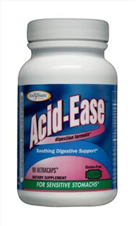 Enzymatic Therapy Acid-Ease Provides Digestive Support for Sensitive Stomachs. Discount Catalog of Nutritional Supplements. Seacoast Vitamins..