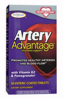 The ingredients in Artery Advantage: vitamin K2, fresh garlic and pomegranate, are not always found in your daily diet, and provide remarkable support for heart health. Artery Advantage is part of the Heart Matters suite of supplements along with BP Manager supplement, Cholesterol Shield phytosterol blend, and HDL Booster supplement..