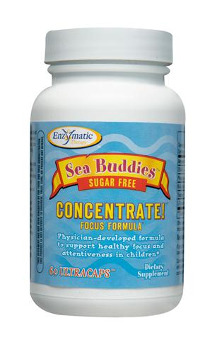 Sugar free Sea Buddies Concentrate is formulated to support healthy focus and attentiveness in children. The ingredients in this formula have been clinically studied to promote relaxation and support neurological health, healthy brain function, and healthy focus and attentiveness..