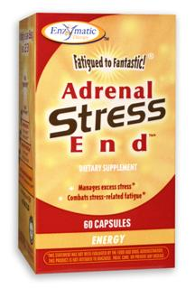 Adrenal Stress-End formula delivers essential nutrients to benefit adrenal gland function, combat stress-related fatigue, and manage excess stress..