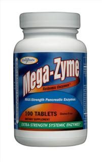 Twice the potency of Wobenzym, Mega-Zyme is the strongest pancreatic enzyme available today..
