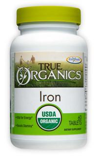 Iron helps our cells create the energy our body needs to thrive. Iron is vital for energy and stamina. True Organics Iron helps transport oxygen through the body, an essential task every cell depends on..