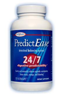 PredictEase intestinal balancing system features a unique approach to restore intestinal predictability to your life and provide fast-acting relief from occasional gastrointestinal discomfort. The right combination of fiber, probiotics and melatonin, can help restore balance to your intestines and your life,  24-7..