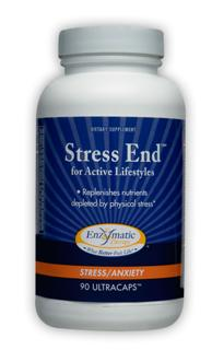 Natural and complete nutritional supplement for active lifestyles, Stress End, replenishes valuable nutrients depleted by physical stress..