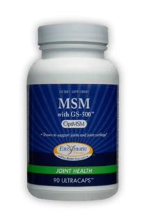 Enzymatic Therapy combines MSM (methylsulfonylmethane), a bioavailable form of sulfur necessary for the proper function of the body's skin, connective tissue, and immune system with glucosamine sulfate that supports healthy articular cartilage..