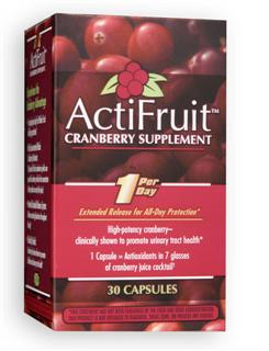 ActiFruit with Cran-Max contains intensively concentrated nutrients formulated to deliver all day long..