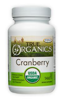True Organics Cranberry delivers potent antioxidants and may enhance urinary tract health..
