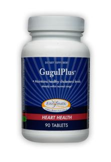 GugulPlus uses standardized guggul extract for the benefits of its desired compounds, Z-guggulsterones and E-guggulsterones. It also provides essential nutrients such as flush-free niacin, vitamin C, and chromium, with ginger root extract for synergistic support. These nutrients contribute to proper cholesterol functions in the body..
