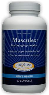 Natural healthy aging complex, Masculex contains herbal extracts, vitamins and other natural ingredients to target male glandular functions. Increasing stamina, promoting endurance and supporting prostate function, naturally..