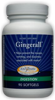 Softgels with ginger extract that helps prevent nausea, vomiting and dizziness associated with motion..