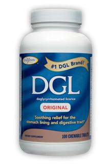 DGL Original chewable tablets help to safely relieve stomach discomfort immediately..