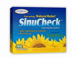 Fast acting, natural relief SinuCheck is made with a unique, pure form of natural eucalyptus oil extract, to maintain healthy sinus drainage and relieve occasional irritation..