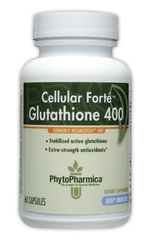 Cellular Forte is a clinically-proven oral glutathione combination. Stabilized reduced glutathione (GSH) protects your cells from harmful toxins and helps fight off free-radical damage to your cells..