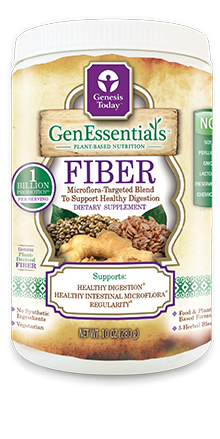 GenEssentials Fiber is made with organic ingredients  including: cold-milled flaxseeds, oats, noni fruit and leaf fiber, herbs and one billion probiotics per serving..